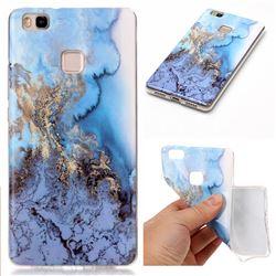 Sea Blue Soft TPU Marble Pattern Case for Huawei P9 Lite P9lite