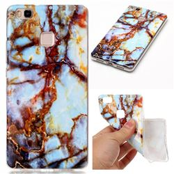 Blue Gold Soft TPU Marble Pattern Case for Huawei P9 Lite P9lite