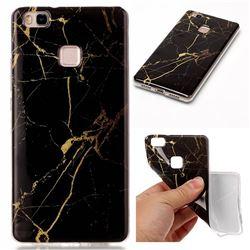 black Gold Soft TPU Marble Pattern Case for Huawei P9 Lite P9lite