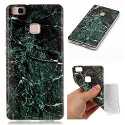 Dark Green Soft TPU Marble Pattern Case for Huawei P9 Lite P9lite