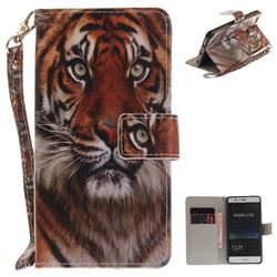 Siberian Tiger Hand Strap Leather Wallet Case for Huawei P9 Lite G9 Lite