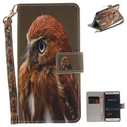 Young Eagle Hand Strap Leather Wallet Case for Huawei P9 Lite G9 Lite