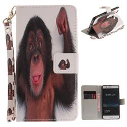 Cute Monkey Hand Strap Leather Wallet Case for Huawei P9 Lite G9 Lite