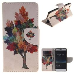 Colored Tree PU Leather Wallet Case for Huawei P9 Lite G9 Lite