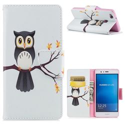 Owl on Tree Leather Wallet Case for Huawei P9 Lite G9 Lite