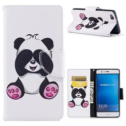 Lovely Panda Leather Wallet Case for Huawei P9 Lite G9 Lite