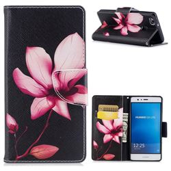 Lotus Flower Leather Wallet Case for Huawei P9 Lite G9 Lite