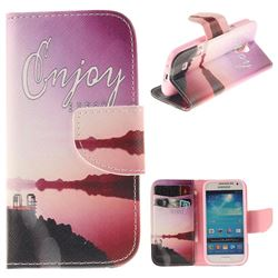 Seaside Scenery PU Leather Wallet Case for Samsung Galaxy S4 Mini i9190