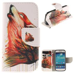 Color Wolf PU Leather Wallet Case for Samsung Galaxy S4 Mini i9190