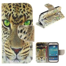 Yellow Tiger PU Leather Wallet Case for Samsung Galaxy S4 Mini i9190