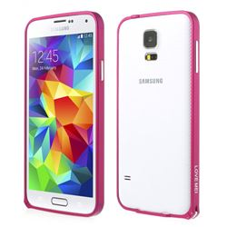 LOVE MEI Brand Hippocampal Buckle Aluminium Metal Bumper for Samsung Galaxy S5 - Rose