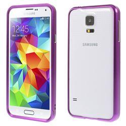 Sliding Aluminum Metal Bumper for Samsung Galaxy S5 G900 - Purple
