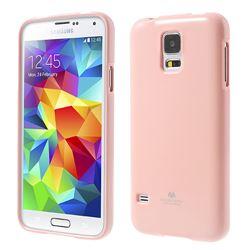 Mercury Glitter Powder TPU Gel Case for Galaxy S5 - Pink