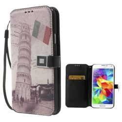 The Leaning Tower of Pisa Leather Case for Samsung Galaxy S5 G900