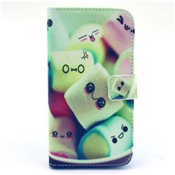 Marshmallow Leather Wallet Case for Samsung Galaxy S5 G900