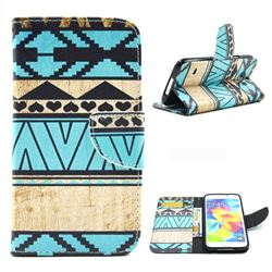 Folk Style Leather Wallet Case for Samsung Galaxy S5 G900