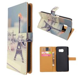 Eiffel Tower Leather Wallet Case for Samsung Galaxy S6 G920 G9200