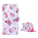 Blooming Rose Leather Flip Cover for Samsung Galaxy S6 G920