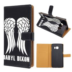 Wings Leather Wallet Case for Samsung Galaxy S6 Edge G925