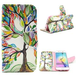The Tree of Life Leather Wallet Case for Samsung Galaxy S6 Edge G925