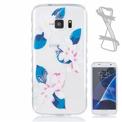 Purple Lily Painted Non-slip TPU Back Cover for Samsung Galaxy S7