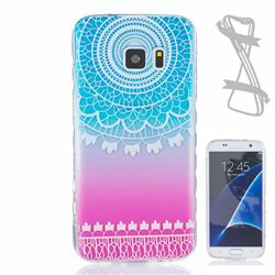 Gradient Wind Chimes Painted Non-slip TPU Back Cover for Samsung Galaxy S7