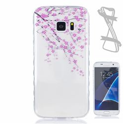 Peach Painted Non-slip TPU Back Cover for Samsung Galaxy S7