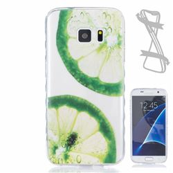 Lemon Slices Painted Non-slip TPU Back Cover for Samsung Galaxy S7