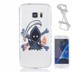 Grim Reaper Painted Non-slip TPU Back Cover for Samsung Galaxy S7