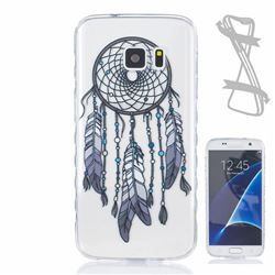 Black Wind Chimes Painted Non-slip TPU Back Cover for Samsung Galaxy S7