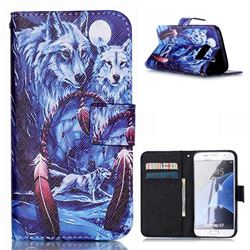 Wolves Totem Leather Flip Cover for Samsung Galaxy S7 G930