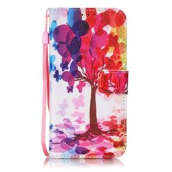 Balloon Tree Leather Wallet Case for Samsung Galaxy S7