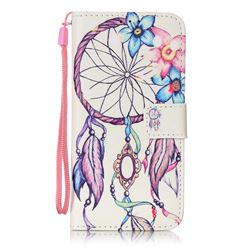 Campanula Flower Leather Wallet Case for Samsung Galaxy S7