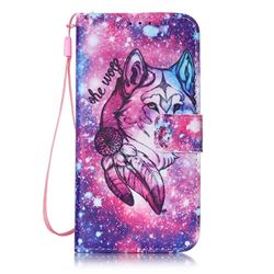 Campanula Wolf Leather Wallet Case for Samsung Galaxy S7