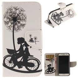 Cycling Dandelion PU Leather Wallet Case for Samsung Galaxy S7 G930