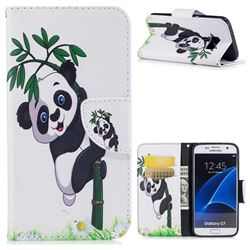 Bamboo Panda Leather Wallet Case for Samsung Galaxy S7 G930