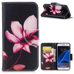 Lotus Flower Leather Wallet Case for Samsung Galaxy S7 G930