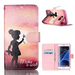 Make a Wish Leather Wallet Cover for Samsung Galaxy S7 Edge G935