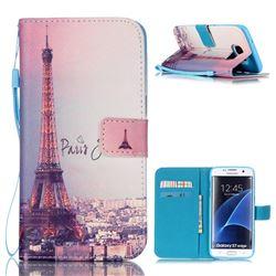 Fog Eiffel Tower Leather Wallet Case for Samsung Galaxy S7 Edge G935