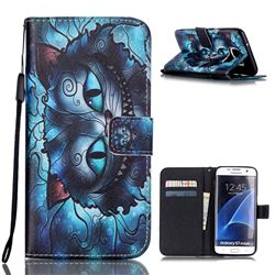 Bobcats Leather Wallet Case for Samsung Galaxy S7 Edge G935
