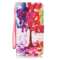 Balloon Tree Leather Wallet Case for Samsung Galaxy S7 Edge