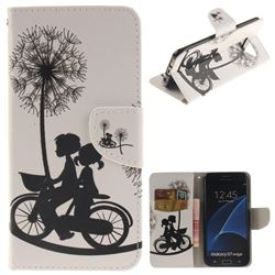 Cycling Dandelion PU Leather Wallet Case for Samsung Galaxy S7 Edge s7edge