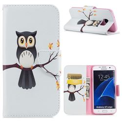 Owl on Tree Leather Wallet Case for Samsung Galaxy S7 Edge s7edge