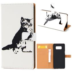 Cute Cat Leather Wallet Case for Samsung Galaxy S8