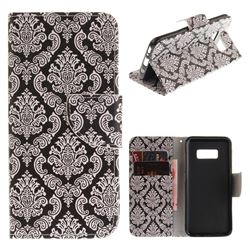 Totem Flowers PU Leather Wallet Case for Samsung Galaxy S8