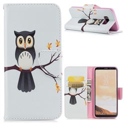 Owl on Tree Leather Wallet Case for Samsung Galaxy S8