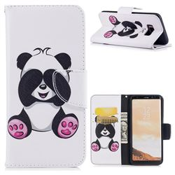 Lovely Panda Leather Wallet Case for Samsung Galaxy S8