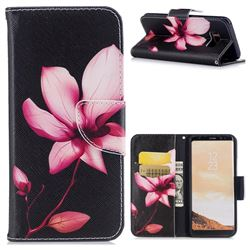 Lotus Flower Leather Wallet Case for Samsung Galaxy S8