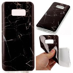 Black Soft TPU Marble Pattern Case for Samsung Galaxy S8 Plus S8+