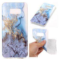 Sea Blue Soft TPU Marble Pattern Case for Samsung Galaxy S8 Plus S8+